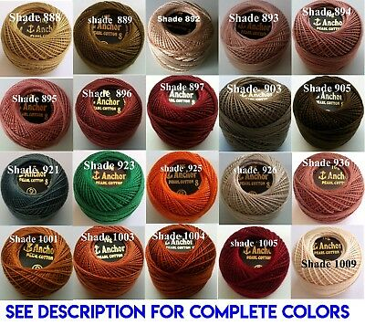 1 ANCHOR Pearl Cotton 8 Crochet Embroidery Thread Ball 1 Flat/Free Postage on 10 10