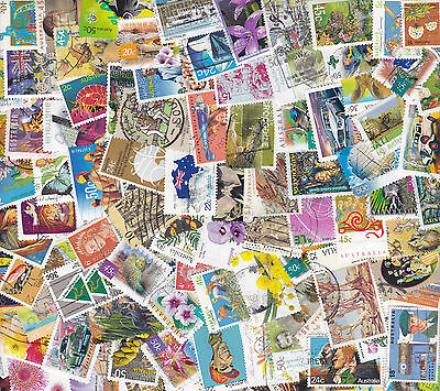 100 Australia Stamps All Different Used Bulk Collection Lot Off Paper Free Post 11