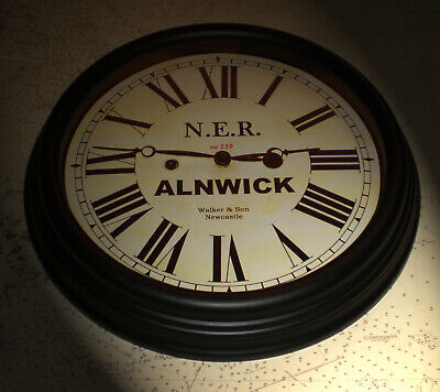 North Eastern Railway, NER Victorian Style Waiting Room Clock, Alnwick Station. 2
