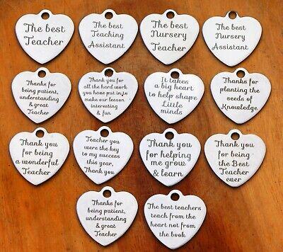 THANK YOU TEACHER GIFT Keyring -TEACHING ASSISTANT,NURSERY TEACHER - New 2
