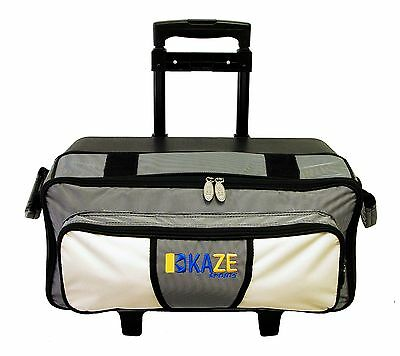 8a0461e003 ... KAZE SPORTS 4 Ball Double Decker Bowling Bag Roller Tote with Smooth PU  Wheels 6
