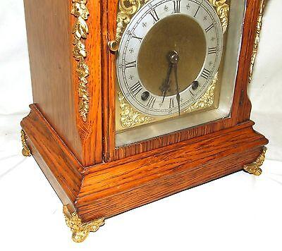 Antique Oak & Ormolu TING TANG Bracket Mantel Clock : Winterhalder W & H (a27) 5