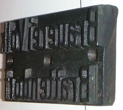 alter Brandstempel BRAUEREI VOLK BRATTENDORF um 1920,Eisen 2