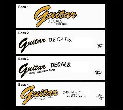Guitar Neck Waterslide Headstock Decals - Headstock decal -  2 for £9.50 7