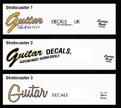 Guitar Neck Waterslide Headstock Decals - Headstock decal -  2 for £9.50 5
