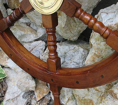 Timón De Barco Maritimo barco Timón Piratas Timón De Barco Madera Latón 62 cm 4