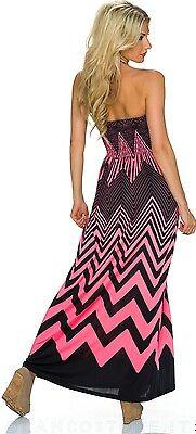 639dd3ea64a9 ... VESTITO abito lungo donna estivo fascia elastica vari colori NUOVO SEXY  11