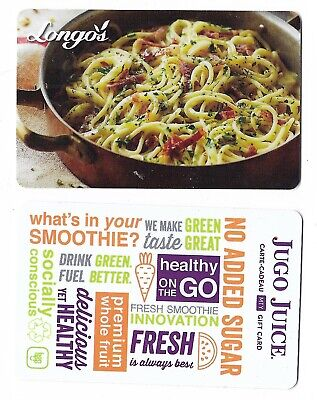 2 Collectible store JUGO JUICE REVITASIZE gift cards 2