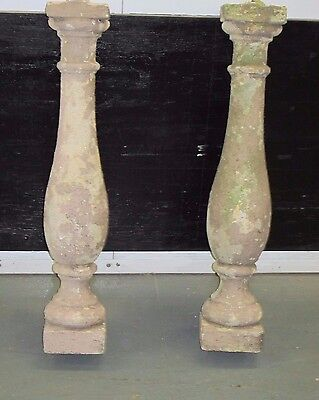 """BALLUSTERS 2 Architectural Concrete Balusters New York City Salvage 30"""" H 4"""