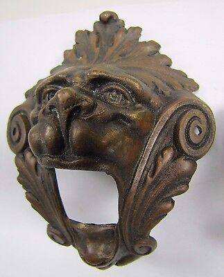 Antique Pair Bronze Monster Beast Lion Head Decorative Architectural Hardware 2 2