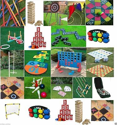 Giant Garden Games Outdoor Summer Beach Bbq Kids Fun Games Quoits Jenga Limbo 2