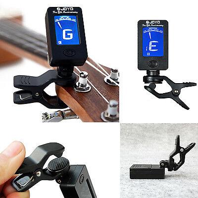 Acoustic Guitar LCD Clip-on Digital Electronic Chromatic Tuner Bass Ukulele 4