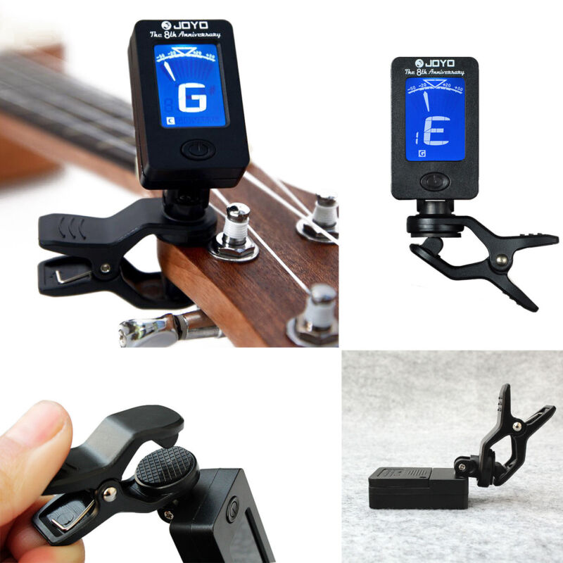 Pro LCD Clip-on Electronic Digital Guitar Tuner for Chromatic Bass Ukulele 7