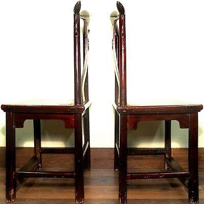 Antique Chinese High Back Chairs (5639) (Pair), Circa 1800-1849 11