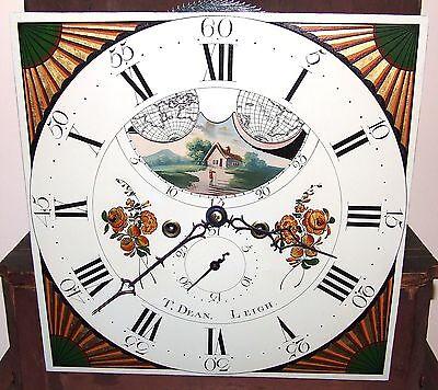 Antique Mahogany Halifax Moon Longcase Grandfather Clock by Thomas DEAN of LEIGH 5