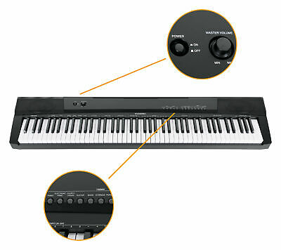 Digital 88 Tasten Keyboard E-Piano Stage Piano 146 Sounds Split Layer Twinova 2