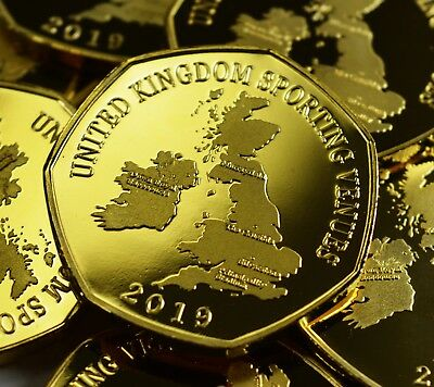 Pair of THE CRUCIBLE Commemoratives. 24ct Gold. Silver. Albums/Filler 2019 2