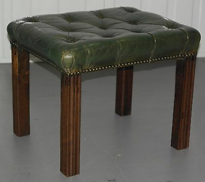 Georgian Chesterfield Wingback Armchair & Matching Footstool Rare Find Must See 12
