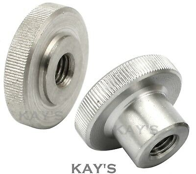 Knurled Thumb Nuts Stainless Steel Hand Grip Knobs M2 M2.5 M3 M4 M5 M6 M8 M10 2