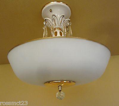 Vintage Lighting extraordinary porcelain pendant by Porcelier 4