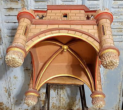 Gothic medieval chateau wall shelf Antique french wood architectural salvage 11