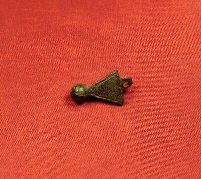 Fine Ancient Byzantine Triangle Pendant - Rare! 2