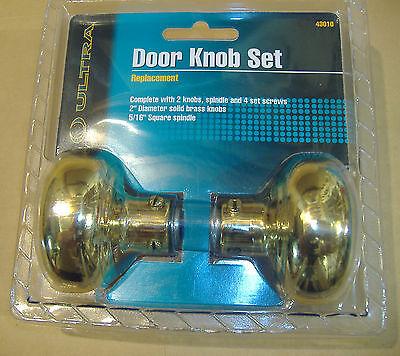 Brass Finish Door Knobs Vintage Style 3