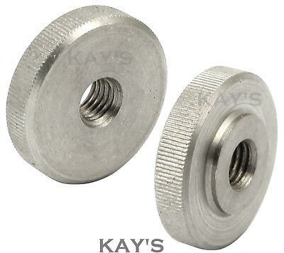 Knurled Thumb Nuts Stainless Steel Hand Grip Knobs M2 M2.5 M3 M4 M5 M6 M8 M10 4