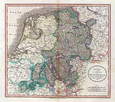 Germany 116 Antique Map Old German History Villages Towns Genealogy