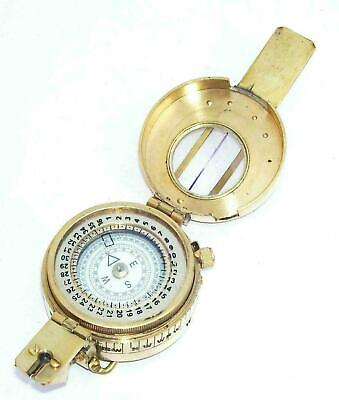 Antique Nautical Military Compass Vintage Shinny Brass Finish Maritime Compass 2