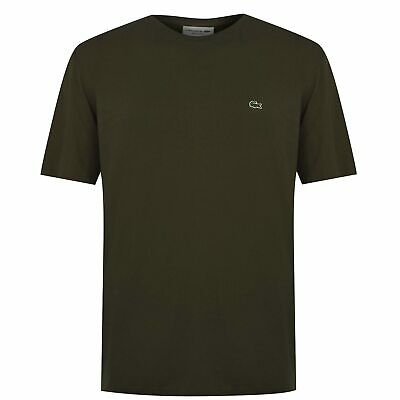 Mens Lacoste Logo Tee Crew Neck Shirt Short Sleeve New