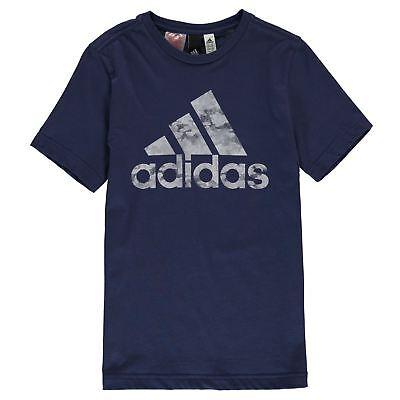 sale retailer 11983 cd97d ... New 2018 Adidas Junior Boys Short Sleeve Camo Linea t Shirt Top Size  Age 7-
