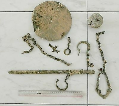 Zurqieh - Ancient Byzantine, 6Th - 7Th Cent. A.d , Bronze Weighing Scale 11