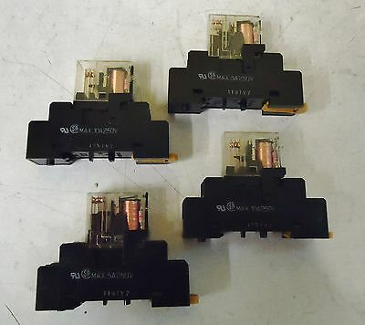 4 Omron G2R-1-Sn Cube Relays,  Comes With The Base.