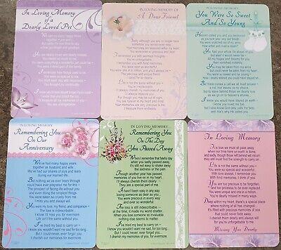 GRAVE MEMORIAL CARDS - Plastic Weatherproof - Various Relations & Christmas 5