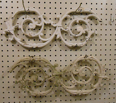 One Vintage Cast Iron Fence/panel Section Swirl 7 3/4 X 18 Salvaged Steam Punk 3