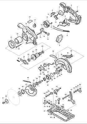 MAKITA GENUINE SPARE Parts-BSS610 CIRCULAR SAW