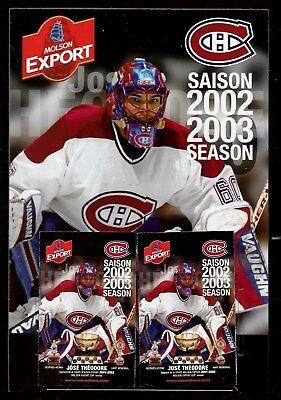 Montreal Canadiens Molson Pocket Schedule & Display Rack Nhl Hockey See List 2