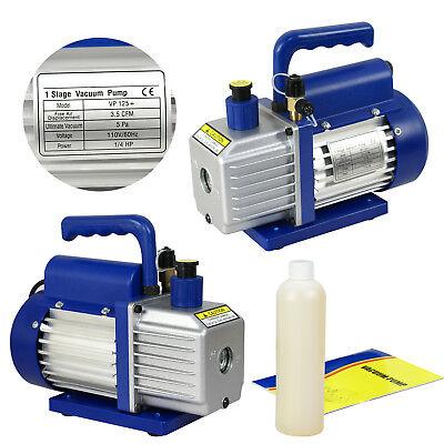 3,5 CFM Rotary Vane Vacuum Pump 1/4HP HVAC R134a Air Refrigerant Conditioning 9