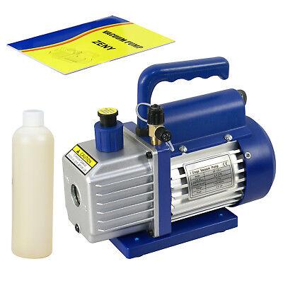 3,5 CFM Rotary Vane Vacuum Pump 1/4HP HVAC R134a Air Refrigerant Conditioning 2