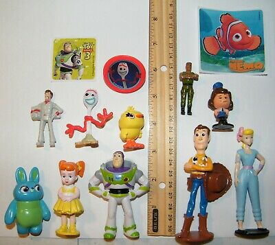 Disney Toy Story 4 Movie Figure Set of 10 With New Character Forky and Bonus 5