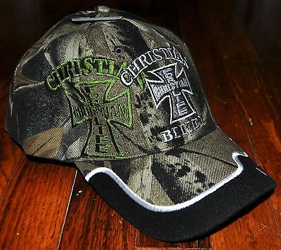 2150e71a NEW CHRISTIAN FOR Life Biker Hat Ball Cap Black Camo Camouflage I Love Jesus