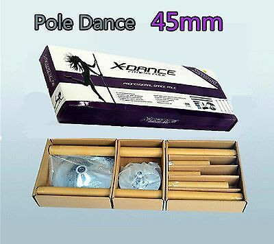 45mm Professional X-Dance GOLD Exotic Pole Dance Exercise Fitness +2 Carry Bag 3