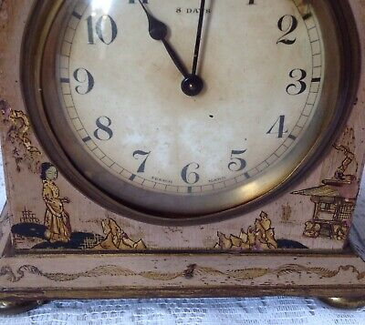 Antique Japanned Bayard D-B. 8 Day Lever Movement French Clock 2