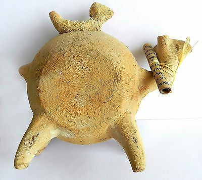 Ancient biblical Iron Age Camel Zoomorphic Roman Byzantine Pottery Clay Statue 7