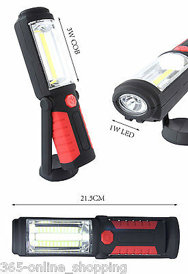5W COB + LED  Magnetic Torch Flexible Inspection Lamp Cordless SMD Worklight 3