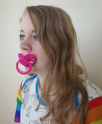 Adult Pacifier Soother Dummy from the dotty diaper company HOT PINK ^^