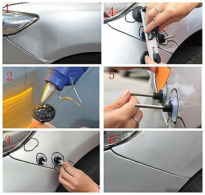 95× PDR Tools Paintless Hail Removal Dent Puller Lifter LED Line Board Repair 6