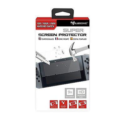 Film de protection d'écran en verre trempé 9 H Nintendo Switch Officiel Neuf 2