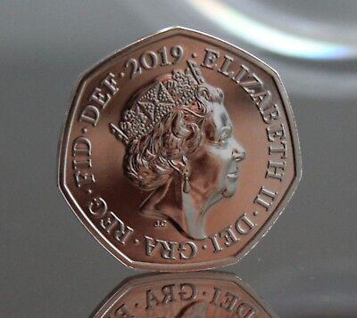 2019 Sherlock Holmes Fifty Pence Coin 50p BU BUnc Brilliant Uncirculated 2